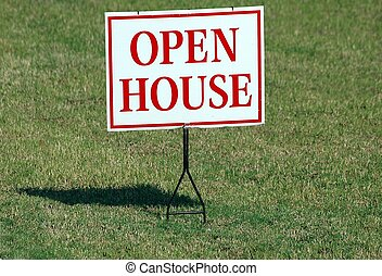 Open House Sign - Photographed an open house sign in front...