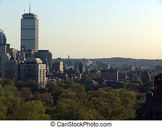 Boston Skyline in the afternoon - Image shows detail of...