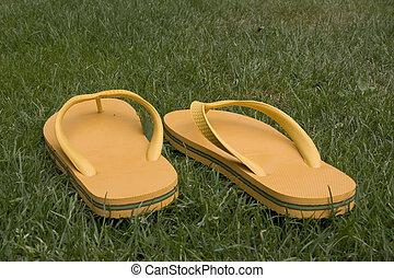 flip flop - yellow flip flop