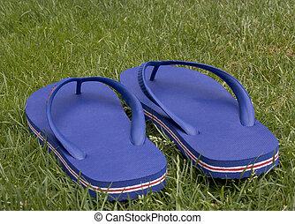 flip flop - blue flip flop