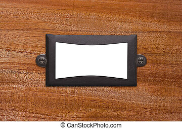 Metal plate on Wood - Metal frame with space for text image...