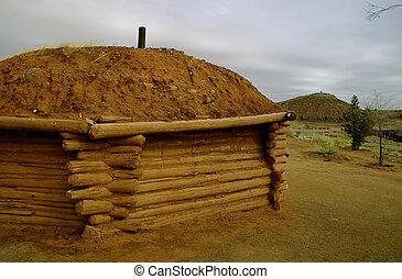 Navajo Hogan - The Navajo hogan is still built in the...