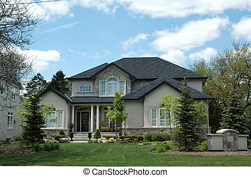 Stucco & Stone HouseStucco & Stone House - Stucco and stone...