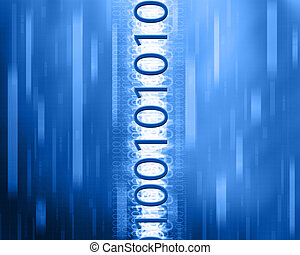 Binary technology background - A binary background in motion