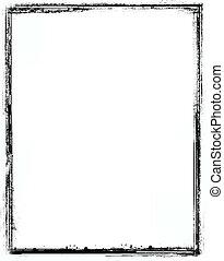 Grunge border - Grunge black border over white