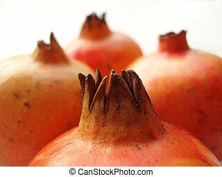 pomegranates - Close-up of red pomegranates