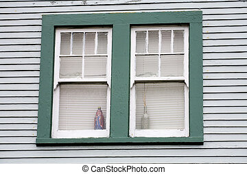 Stock Photo of an Unattractive Green Window - Photo of an...