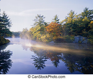 Morning Mist - Autumn Fog on Pearce Lake, Breakheart...