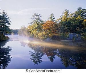 Morning Mist - Autumn Fog on Pearce Lake, Breakheart...