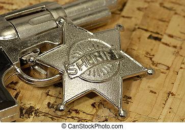 Sheriff\\\'s Badge and Gun