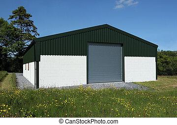 Newly Constructed Barn - Newly constructed barn of cream...