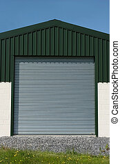 Roller Shutter Doors - Steel roller shutter doors on a new...