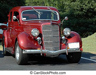 Car Show - Photographed an old vintage car at car show in...