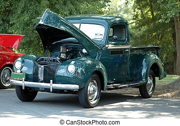 Car Show - Photographed a vintage truck at a car show in...