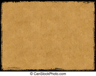 Aged paper - Vintage paper background and grunge black...