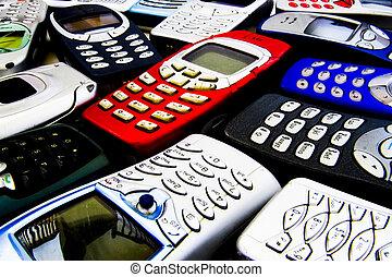 Estilizado, móvil, teléfonos