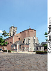 Old brick church in Walloon city.