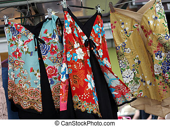 Japanese-style clothing at a market - Japanese-style...