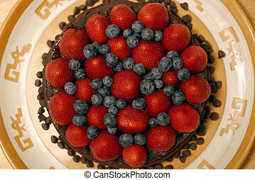 Topping - berries - The strawberries and blueberries are...