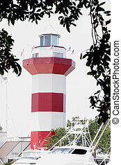Lighthouse at HH - The lighthouse at Hilton Head with tree...