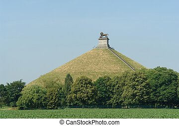 Waterloo memorial - The famous memorial hill on the...