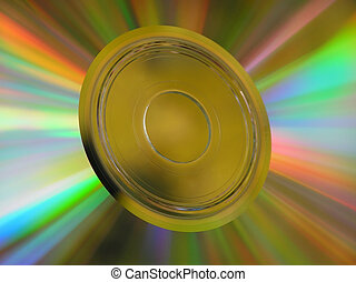CD ROM with many colors as a background