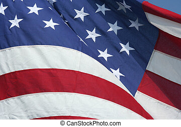 USA flag - A waving American flag