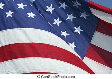 USA flag - A waving American flag