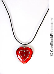 Heart shaped necklace - Simple heart shaped red necklace...