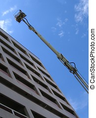 Emergency Rescue Crane - -- an extendable telescope lift...