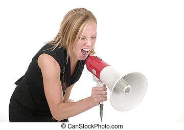 Attractive Agressive Blonde Business Woman 1