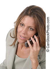styrelse, mobiltelefon, kvinna,  4, affär