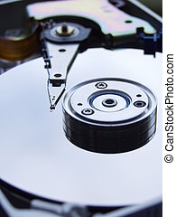Hard Disk Drive - Hard Drive, macro, isolated