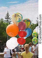 In city park - Celebration of City Day