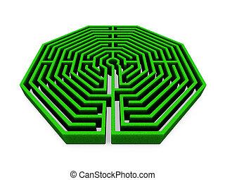 Maze - 3D render of a maze