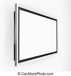 Plasma screen tv - 3D render of a plasma screen television