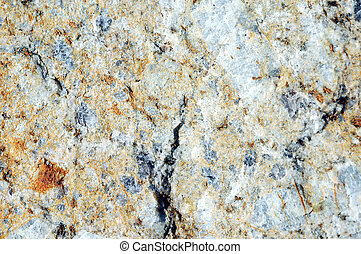 Unpolished marble - stone face of marble after a slope...