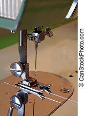 SEWING MACHINE - Sewing machine foot closeup