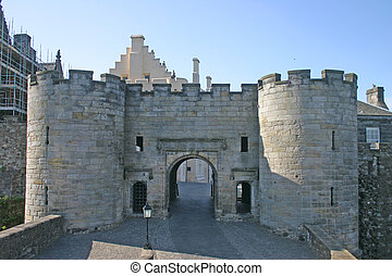 Gatehouse of Stirling Castle in Scotland - Stirling Castle...