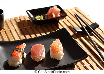 Sushi - sushi on a plate
