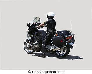 Motocykl, policjant