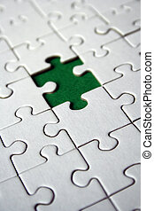 Green jigsaw - Green empty jigsaw piece