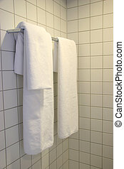 White Towels in Bathroom