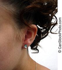 Elegant Hairdo - a stylish hairdo and ear view