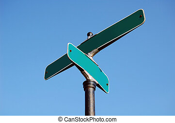 Blank street sign - Blanks street sign ready for your own...