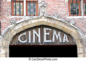 Old cinema sign