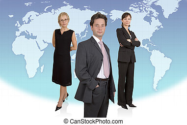 Business quot;Charliesquot; - Three businesspeople standing...