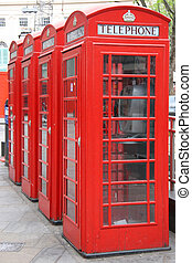 Four London Phone Booths