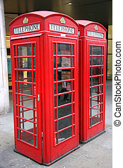 Two London Phonoe Booths - Two London Phone Booths