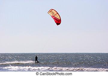 Kite Surfing - kite surfing, Essaouira, Morocco